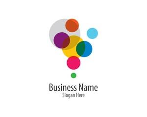 Bubble logo template vector icon illustration design