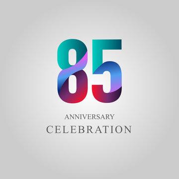85 Year Anniversary Celebration Vector Template Design Illustration