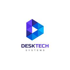 Duotones Letter D logo