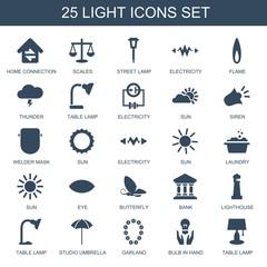 25 light icons