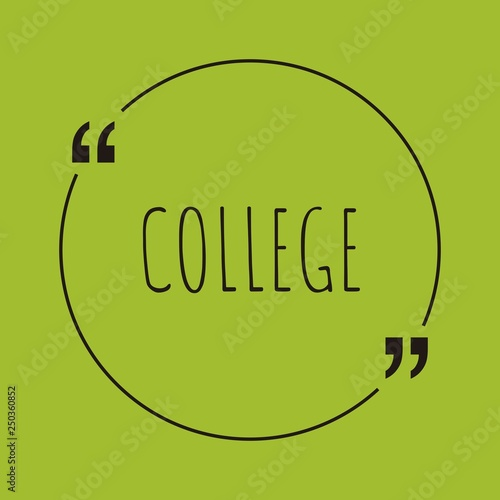 College word concept