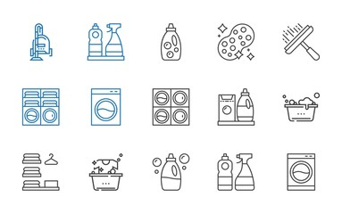 washer icons set