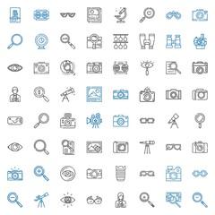 lens icons set