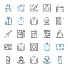 dress icons set