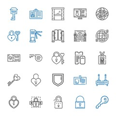 access icons set
