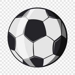 Soccer ball icon in cartoon style isolated on background for any web design
