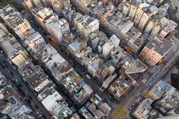 Top view of Hong Kong residential city