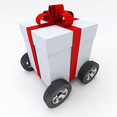 Present on wheels