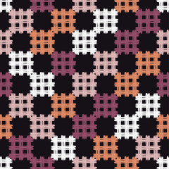 Keuken foto achterwand Pixel Ethnic boho seamless pattern. Patchwork texture. Weaving. Traditional ornament. Tribal pattern. Folk motif. Can be used for wallpaper, textile, invitation card, wrapping, web page background.