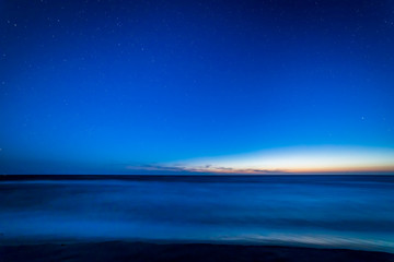 Baltic sea after sunset