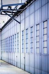 old door of a hangar
