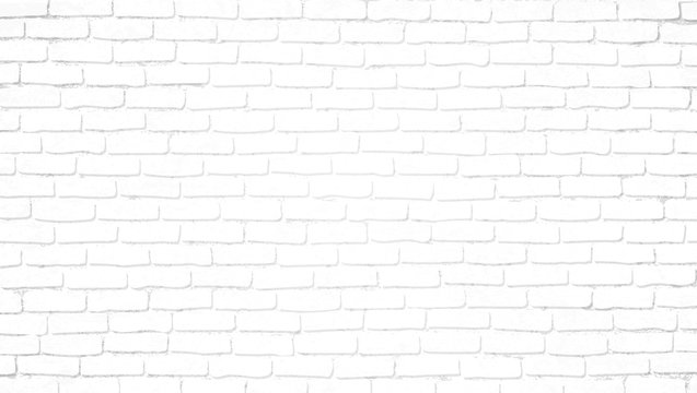 Realistic light white brick wall background. Distressed overlay texture of old brickwork, grunge abstract halftone pattern. Texture for template, layout, poster, fabric and different print production.