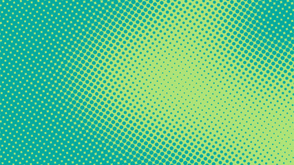 Bright turquoise and green pop art retro background with halftone in comics style vector illustration eps10 Fototapete