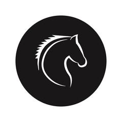 Horse head vector icon