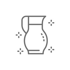 Glass jug with water line icon.