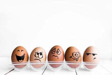 Eggs Faces, drawnigs on egg, Easter eggs