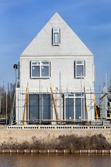 Construction of a house  in the Netherlands