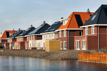 New built houses in the Netherlands
