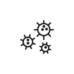 Virus cells line icon