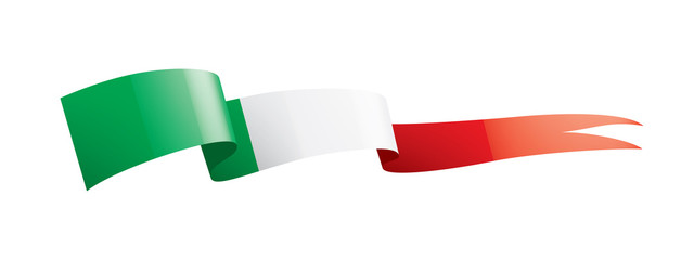 Italy flag, vector illustration on a white background.