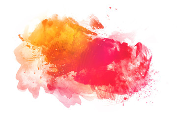 Colorful watercolor background isolated on white