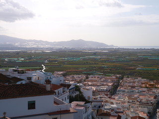 white village, andalusia, spain