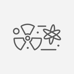 Nuclear physics icon line symbol. Isolated vector illustration of  icon sign concept for your web site mobile app logo UI design.