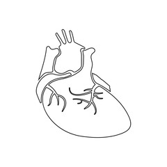 real image of the human heart icon. Element of Human parts for mobile concept and web apps icon. Outline, thin line icon for website design and development, app development