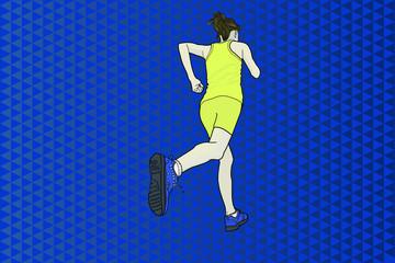 Una mujer practicando deporte