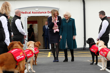 Britain's Camilla, the Duchess of Cornwall visits the Medical Detection Dog's centre, in Milton Keynes