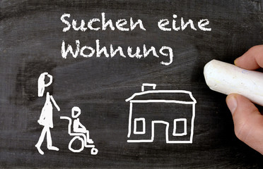 Disabled people looking for a new flat in german suchen eine Wohnung