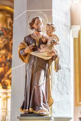 Saint with baby Jesus in his hands