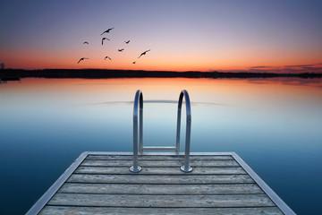 romantischer Seezugang