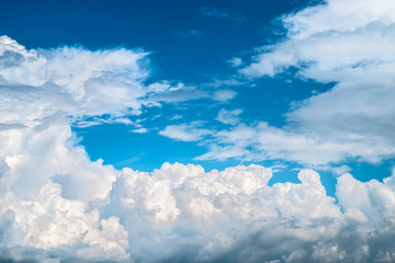 Blue sky with white clouds. Sky background