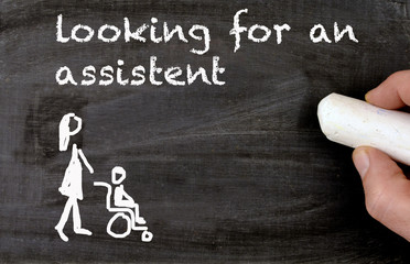 looking for a assistent for a disabled person