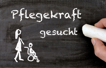 looking for a assistent for a disabled person in german Pflegekraft gesucht