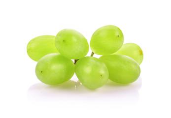 Fresh grapes on white background. Fototapete