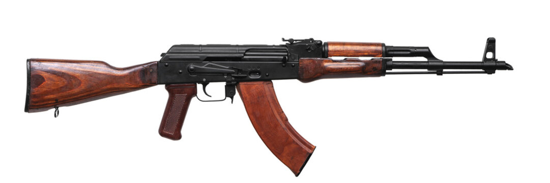 classic machinegun armed with ussr and russia isolated on white back.