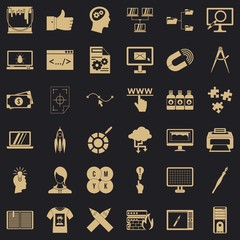 Web marketing icons set. Simple style of 36 web marketing vector icons for web for any design