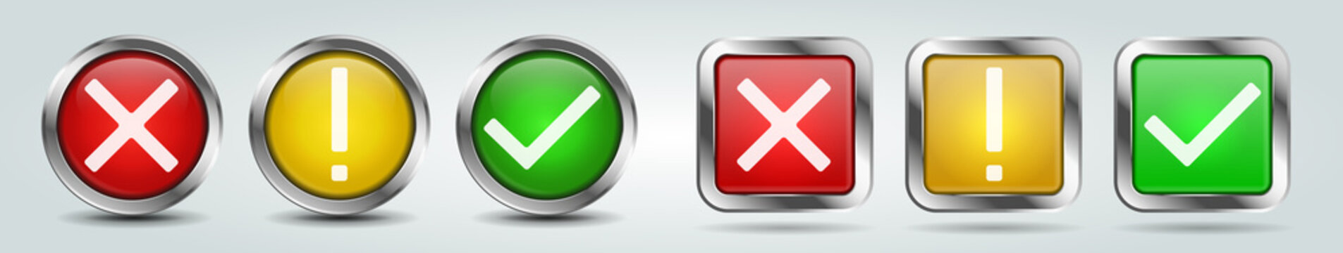 Status checkmark voting buttons