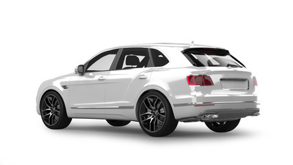 Luxury SUV 3D Rendering Isolated on White