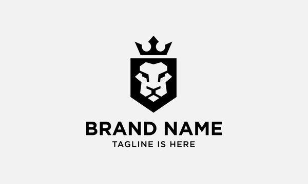 lion head logo design. lion king. lion face. elegant lion icon