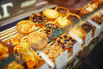Assorted bread displayed in Bakery Shop
