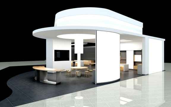 3d render exhibition stand