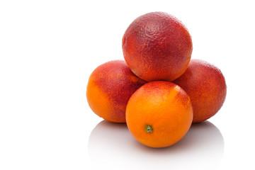 Blutorangen Sanguine Orangen Haufen