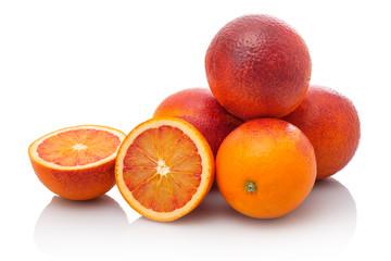 Sanguine Blutorangen Orangen  Früchte Stapel