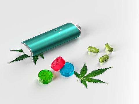 Medical Marijuana Products - Smart Vape Cannabis Vaporizer and Marijuana Infused Edibles - Weed Gummies