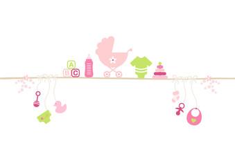 Baby Icons Linie Mädchen Pink/Grün