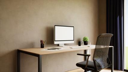 vue 3d bureau plus ordinateur 04