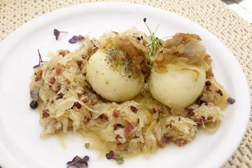 Kließla mit Sauerkraut
